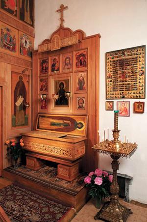Sepulcro de la Santa. Monasterio de la Protección de la Madre de Dios, Suzdal (Rusia).