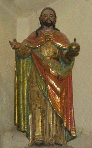 Imagen del Salvador en madera policromada. Iglesia de Ayoó de Vidriales, Zamora (España).