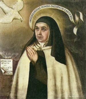 """""""Venerable Teresa de Jesús"""", óleo de Fray Juan de la Miseria. Considerado el retrato más verídico de la Santa."""