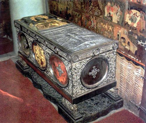 Sepulcro de la Santa. Monasterio de Santa Catalina del Sinaí (Egipto).