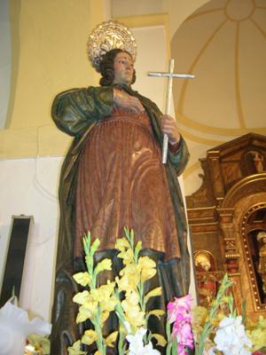 Imagen del Santo que se venera en Bérchules, Granada (España). Fotografía de FHS.