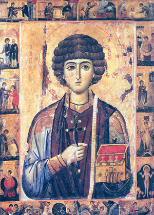 Icono bizantino del Santo. Monasterio Vatopedi, Monte Athos (Grecia).