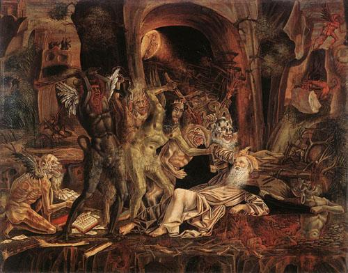 Las tentaciones de San Antonio, obra de Bernardino Parenzano.