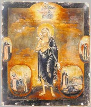 Icono ortodoxo ruso de la Santa (s.XVIII).