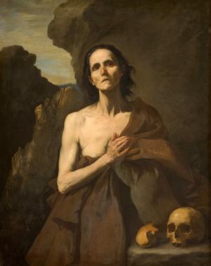 Óleo de la Santa por José de Ribera (1641), Musée Fabre, Montpellier (Francia)