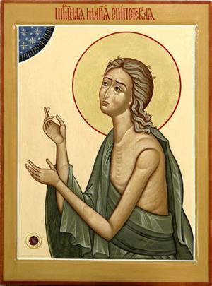 Icono de la Santa con reliquia incrustada. Iglesia de Santa Catalina la Gran Mártir. Moscú, Rusia.