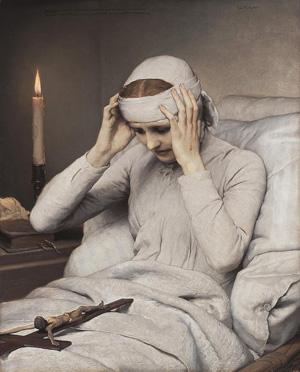 Óleo de la Beata por Gabriel Cornelius Von Max.