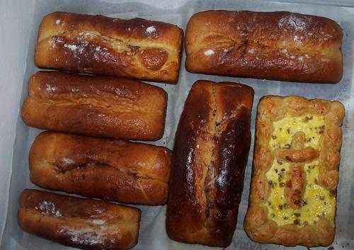 Detalle de los cozonac y pasteles de Pascua.