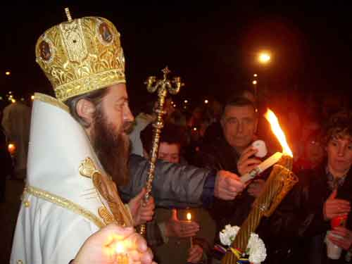 Ritual ortodoxo de la apertura de las luces.
