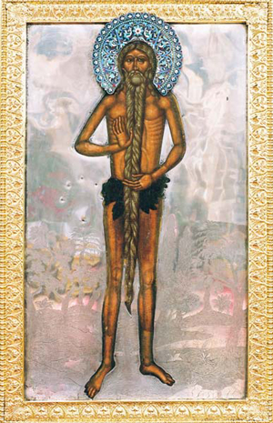 Icono del Santo en su monasterio de Jableczna.