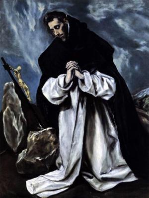 """Óleo del Santo, obra de Domenikos Theotokopoulos (""""El Greco""""). Colección particular."""