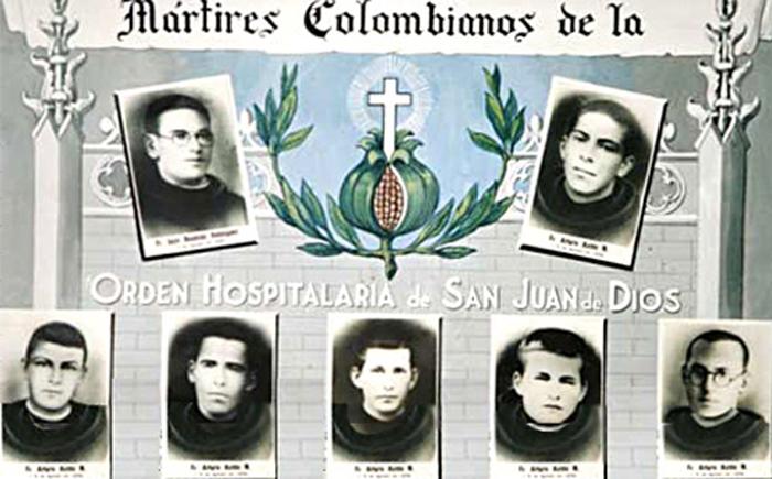 Mártires colombianos de la Orden Hospitalaria de San Juan de Dios.