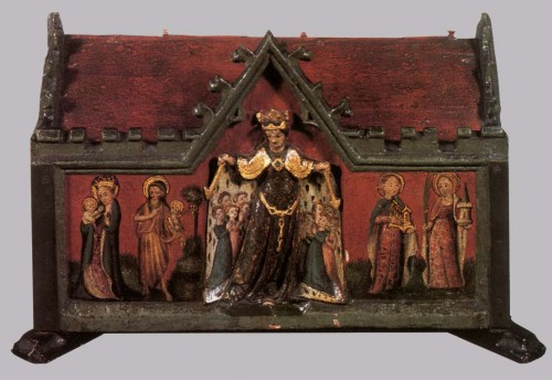 Relicario de la Santa conservado en Brujas, Bélgica.