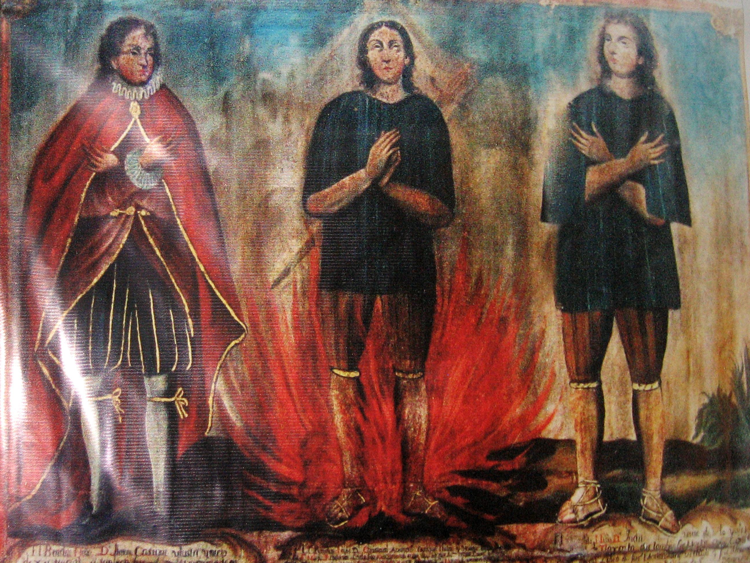 Resultado de imagen para Santos Cristóbal, Antonio y Juan - Los Niños Mártires de Tlaxcala (México)