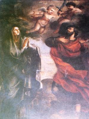 Santos Lucía y Geminiano. Iglesia de Santa Lucia alla Tinta, Roma (Italia).