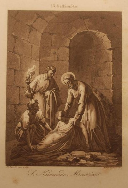 De hellige Felicula og Nikomedes (1841) av Filippo Biglioli (1798-1878)