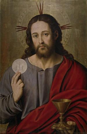 Salvador Eucarístico, óleo de Juan de Juanes (1545-1550). Museo Nacional del Prado, Madrid (España).