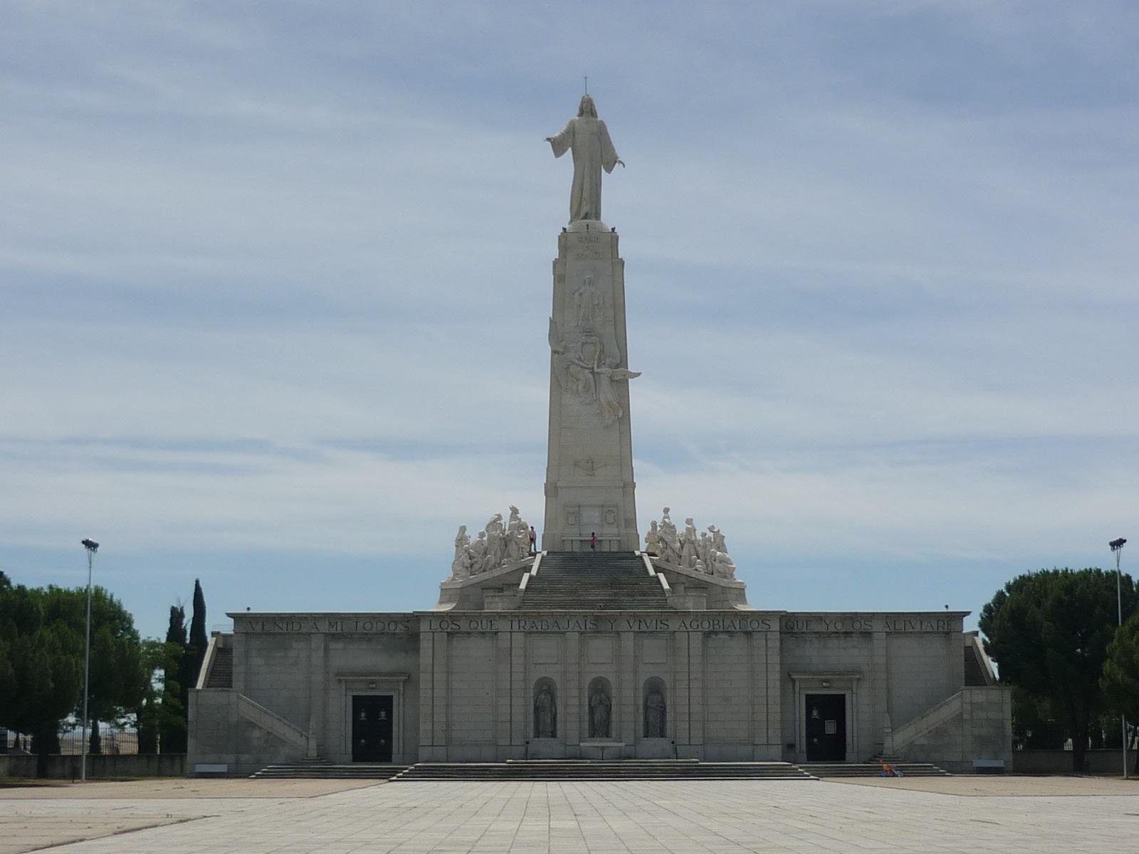 Monumento al Sagrado Corazón en el Cerro de los Ángeles, Getafe (Madrid, España).