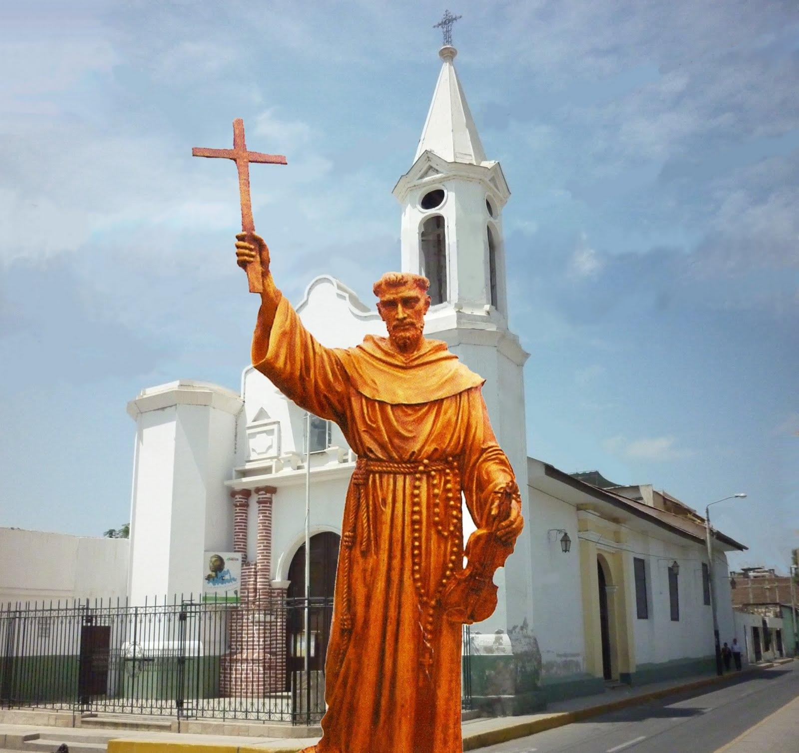 Imagen e iglesia dedicadas al Santo en Piura, Perú.