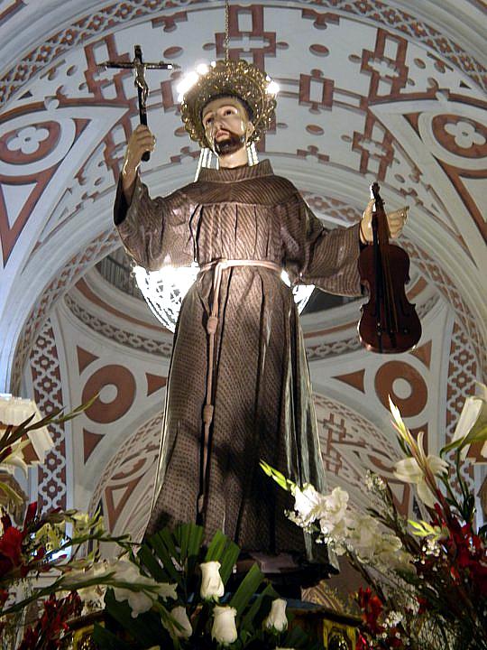 Imagen del Santo venerada en la iglesia de San Francisco de Lima, Perú.