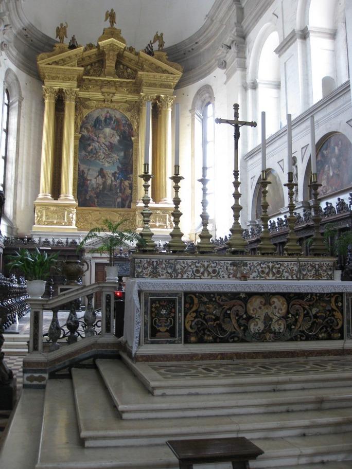 Vista del altar mayor de la Basílica de Santa Justina de Padua (Italia), bajo el cual está el sepulcro de la mártir.