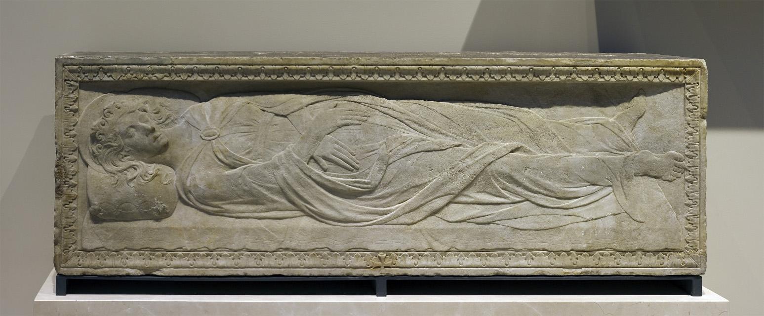 Sarcófago de la Santa, obra de Gregorio di Allegretto (1450-1476) al que, sin embargo, no se trasladó el cuerpo de la mártir. Basílica de la Santa, Padua (Italia).