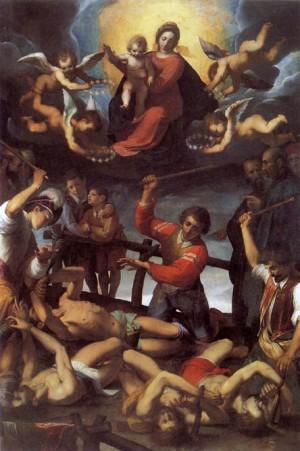 Martirio de los Santos. Lienzo barroco de Jacopo Ligozzi, s.XVII.