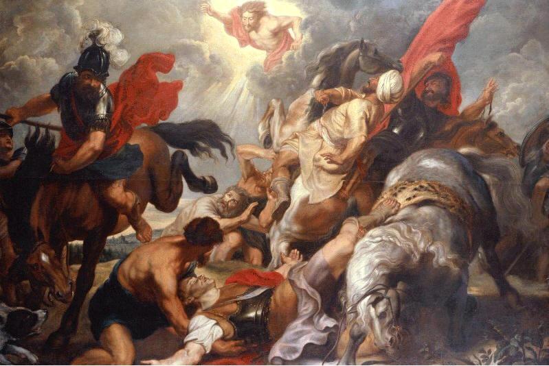 Óleo de la conversión de San Pablo, obra del pintor barroco Peter Paul Rubens (1620). Gemäldegalerie de Berlín (Alemania), desaparecido en 1945.