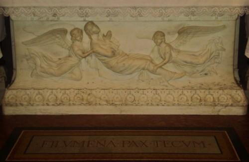 Relieve neoclásico que representa el episodio mítico de la Santa