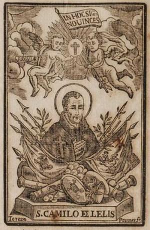 Xilografía del Santo presente en unos Gozos en su honor.