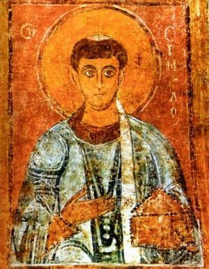 Fresco bizantino de San Ermilio en la Catedral de Sofía, Bulgaria.