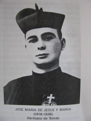 Fotografía del Beato José María en su hábito de pasionista.