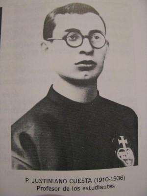 Fotografía del Beato Justiniano en su hábito de pasionista.