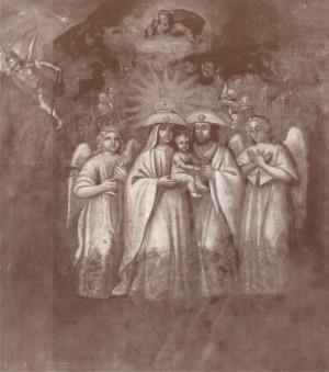 Vista del lienzo que se pintó en base a las revelaciones.
