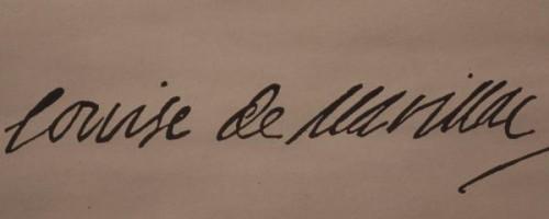 """""""Louise de Marillac"""". Firma de la Santa."""