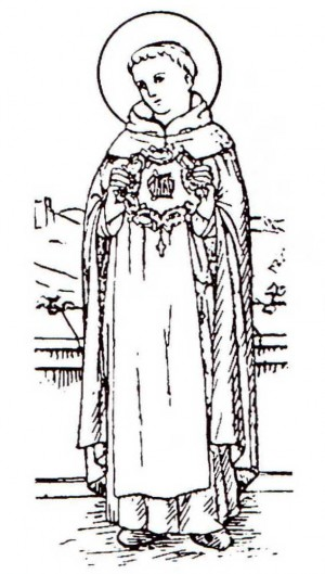 Ilustración del Santo para unos gozos catalanes. Fuente: http://algunsgoigs.blogspot.com.es/
