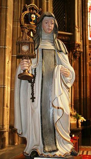 Imagen de la Santa venerada en la Basílica de San Bartolomé de Limburgo, Holanda.