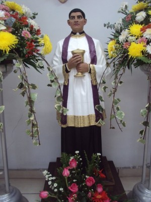 Imagen procesional del Santo.