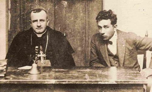 Ob. Fco Orozco y Jiménez (Recopilación de fotos Diac. Francesco Lay). Fotografiado junto al Beato Anacleto.