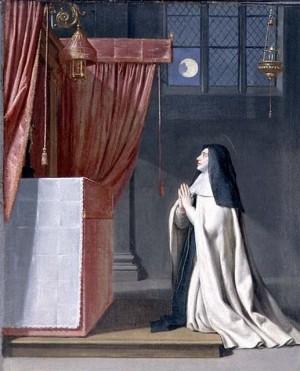 Visión de Santa Juliana. Lienzo de Philippe de Champaigne (1602 – 1674).