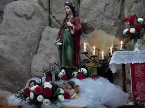 Reliquia de Santa Filomena en Coquimbo, Chile. Agosto 2012.