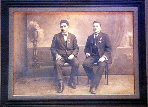 El Beato Anacleto fotografiado junto al Beato Miguel Gómez.