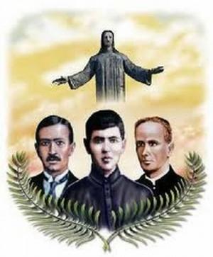 Montaje de los Beatos Mártires de San Joaquín y la imagen de Cristo Rey de la Paz venerado en el Cubilete, México.