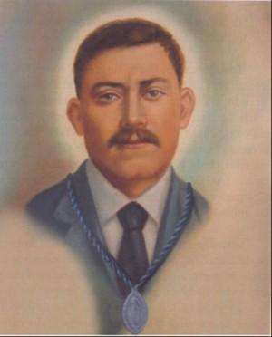 Detalle del Beato Miguel Gómez en la estampa que encabeza el artículo.