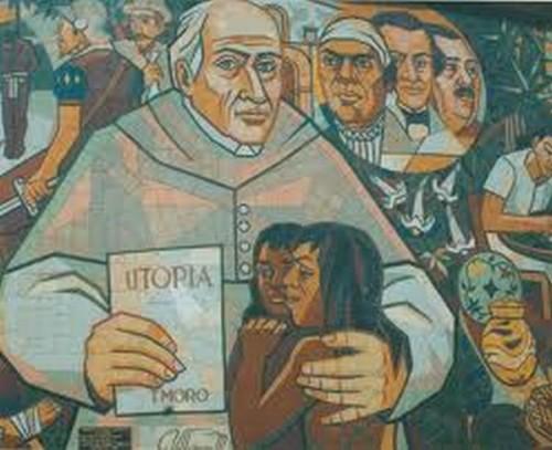 Lienzo contemporáneo del Siervo de Dios. Museo de Arte Contemporáneo. Morelia (México).