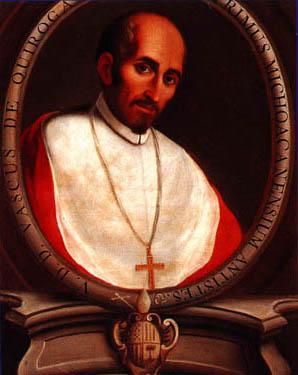 Medallón barroco del Siervo de Dios en su atuendo episcopal.