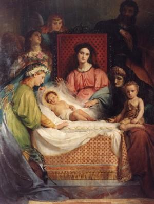 Matrimonio místico de Santa Catalina mártir. Óleo decimonónico de Joseph Navez.