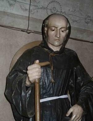 Escultura del Venerable fray Antonio Margil de Jesús.
