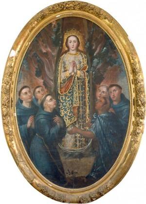 El hallazgo de la Virgen de Ocotlán en el tronco de un árbol de ocote.