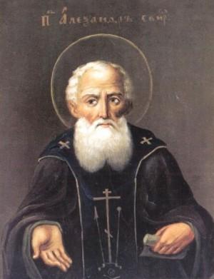 Icono ortodoxo ruso del Santo, en su atuendo de egumeno.